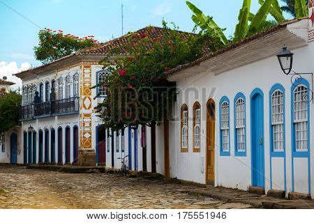 Streets Of The Historical Town Paraty Brazil