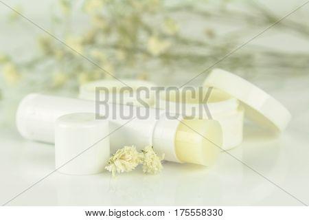 lip balm stick isolated on white background