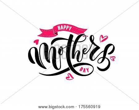 Happy Mother's Day Text As Mothers Day Badge/tag/icon. Text Card/invitation/banner Template.