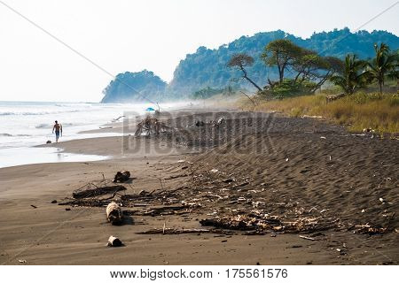 Tropical beach of Playa Hermosa near the town of Jaco, Costa Rica