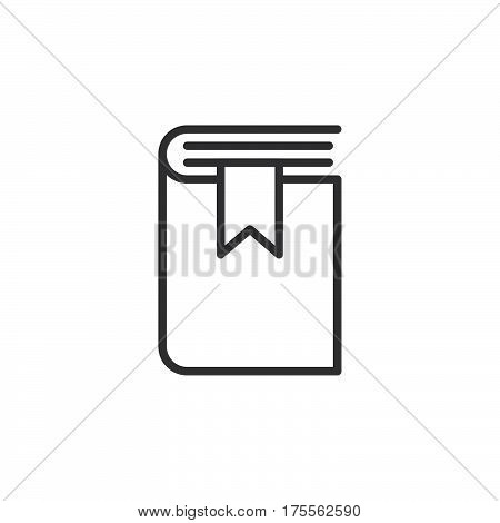 Book bookmark line icon outline vector sign linear style pictogram isolated on white. Symbol logo illustration. Editable stroke. Pixel perfect