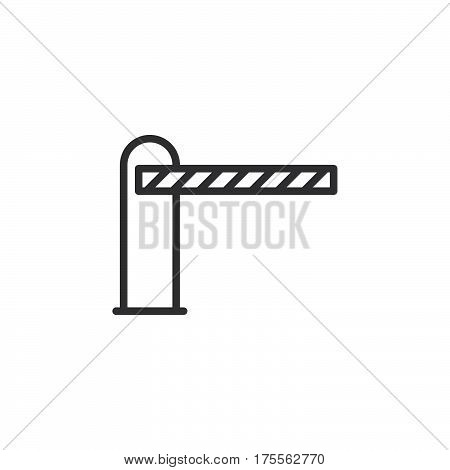 Barrier closed line icon outline vector sign linear style pictogram isolated on white. Symbol logo illustration. Editable stroke. Pixel perfect
