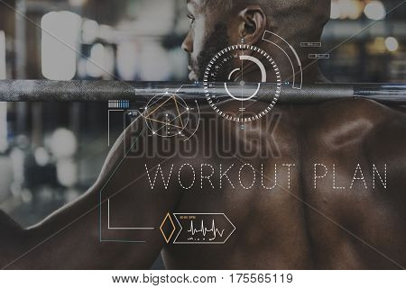 Wellness Health Lifestyle Workout Graphic Word