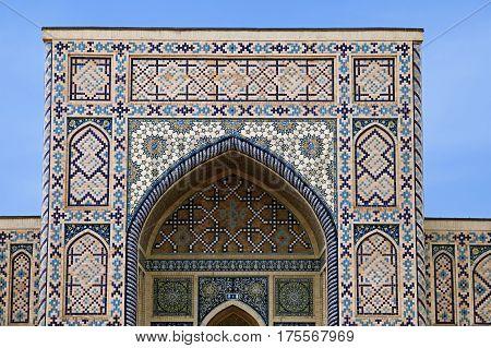 Arch portal of a mosque, Samarkand, Uzbekistan