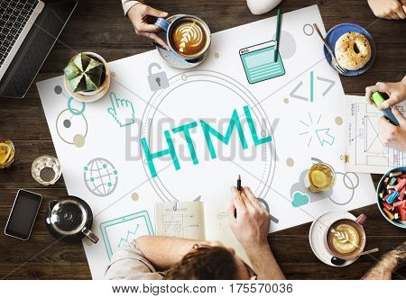 HTML HTTP Web Design Homepage Icon