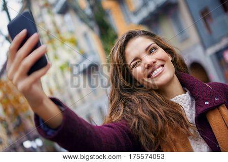 Winking selfie