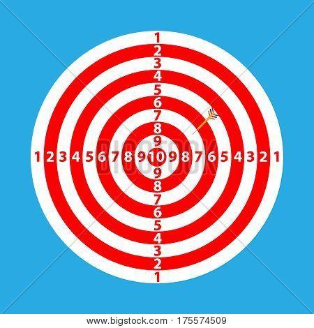 Darts, darts icon. Flat design, vector illustration, vector.
