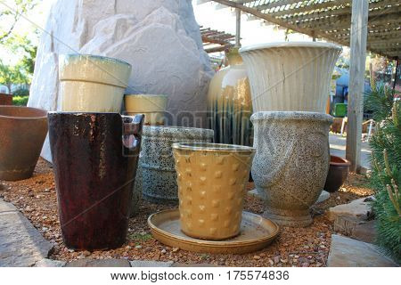 Planting ceramic pots