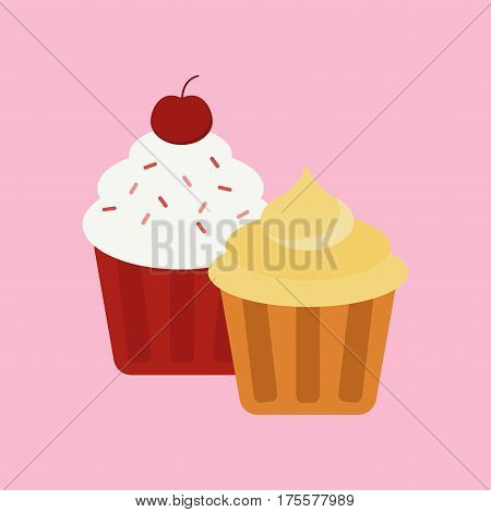 Sweet cake isolated Traditional sweet cake holliday vector. Cake food sweet vector. Food fresh cake isolated