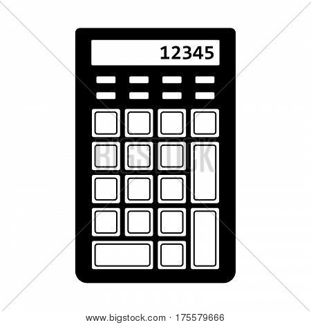 Numeric keypad with a calculator on white