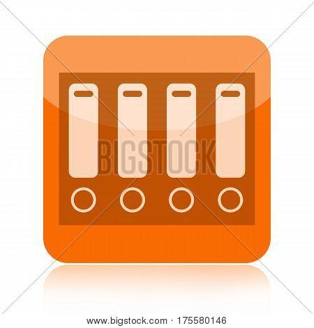 Folders orange icon isolated on white background