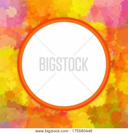 Colorful round photo or picture square frame