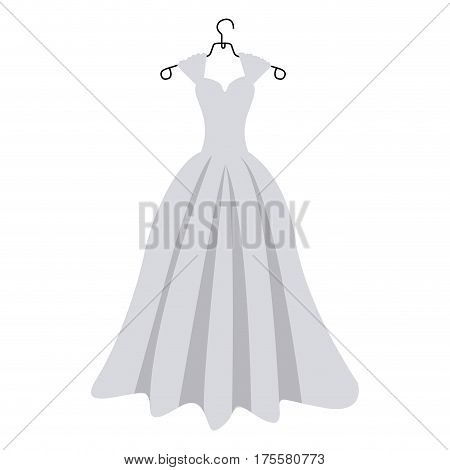 colorful silhouette costume bride dress vector illustration
