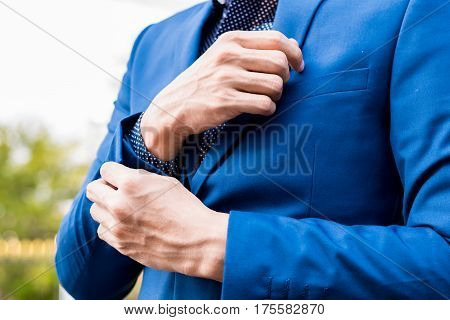 Business Successful Concept : Executive Business Man Wear Male Formal Suit