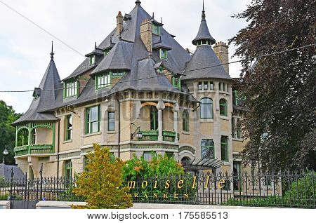 Reims France - july 26 2016 : villa Mademoiselle an Art Deco house in the Vranken Pommery monopole estate