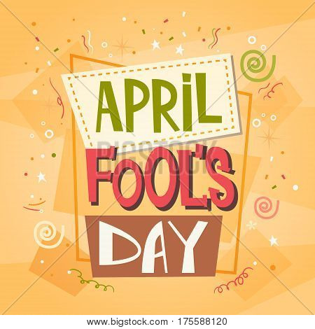 Fool Day April Holiday Greeting Card Banner Flat Vector Illustration