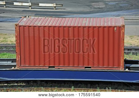 Container On Railroad Platform