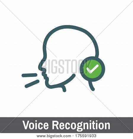 Biometric Scanning - Voice Recognition Scanning with Checkmark