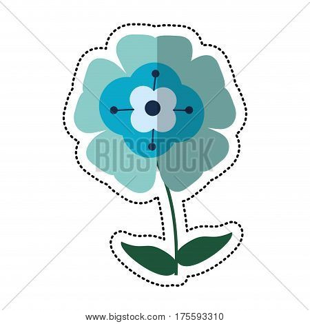 cartoon flower flourish natural vector illustration eps 10