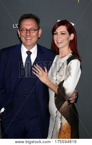 LOS ANGELES - SEP 16:  Michael Emerson, Carrie Preston at the TV Academy Performer Nominee Reception at the Pacific Design Center on September 16, 2016 in West Hollywood, CA
