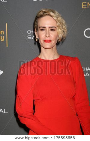 LOS ANGELES - SEP 16:  Sarah Paulson at the TV Academy Performer Nominee Reception at the Pacific Design Center on September 16, 2016 in West Hollywood, CA