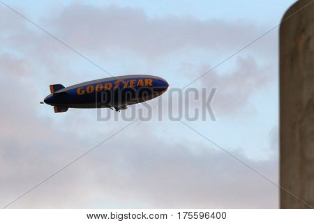 LOS ANGELES - SEP 28:  Goodyear Blimp at the