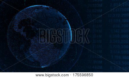 Stock market financial analysis indicator background  - Finance and Banking Concept