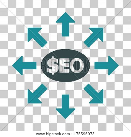 Seo Marketing icon. Vector illustration style is flat iconic bicolor symbol soft blue colors transparent background. Designed for web and software interfaces.