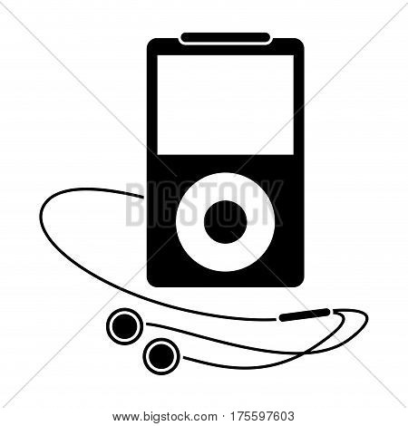 mp3 player headphones pictogram vector illustration eps 10
