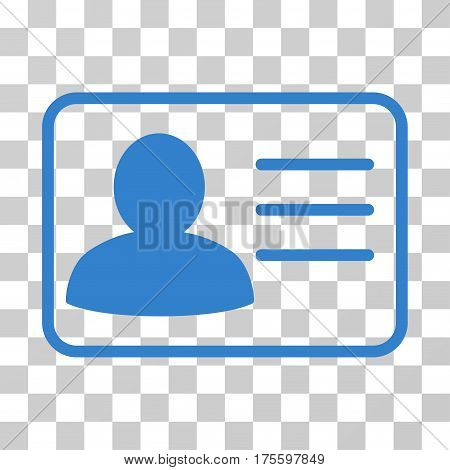Account Card icon. Vector illustration style is flat iconic symbol cobalt color transparent background. Designed for web and software interfaces.