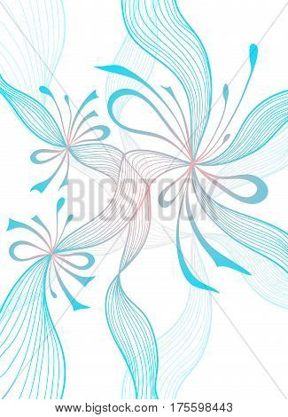 Beautiful light abstract background with lace flowers bows blue pink on white for wallpaper or  decoration package perfumer textile clothes or for screen on mobile telephone tablet or for banners