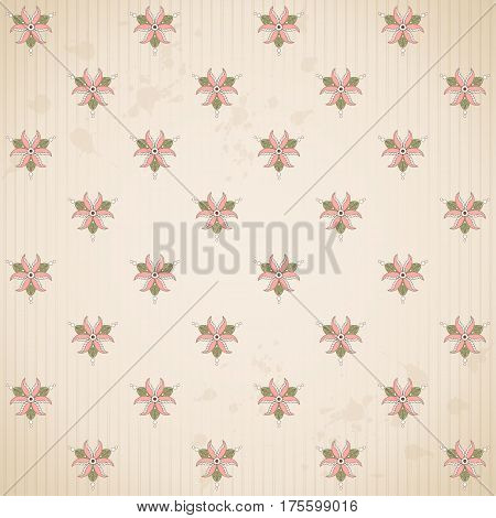Vector seamless background. Blotches stripes and vintage pattern. This ornament is part of collection oriental patterns