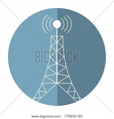 antenna tower broadcast connection shadow vector illustration eps 10