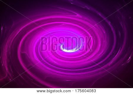 Purple Circular Glow Wave. Lighting Effect Abstract Background.