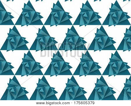 Seamless triangle pattern tornado, vector illustration, eps 10