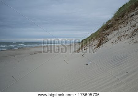View to Baltic sea from the curonian spit Russia