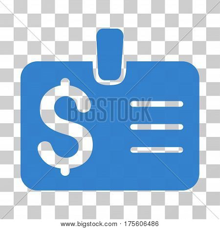 Dollar Badge icon. Vector illustration style is flat iconic symbol cobalt color transparent background. Designed for web and software interfaces.