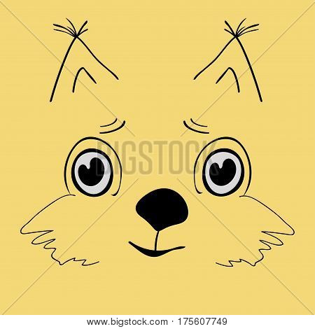 Squirrel cute head cartoon. Rodent vector illustration.