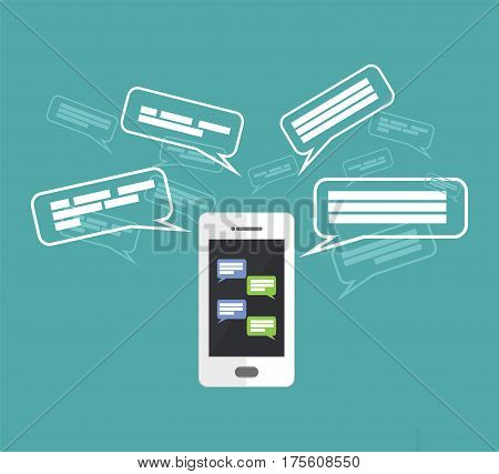 Mobile phone chatting , communication, messenger application