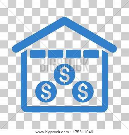 Money Depository icon. Vector illustration style is flat iconic symbol cobalt color transparent background. Designed for web and software interfaces.