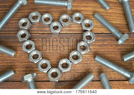 Father's Day card with bolts and nuts