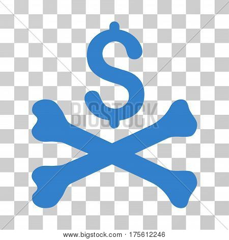 Mortal Debt icon. Vector illustration style is flat iconic symbol cobalt color transparent background. Designed for web and software interfaces.