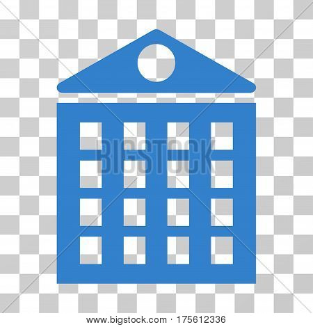 Multi-Storey House icon. Vector illustration style is flat iconic symbol cobalt color transparent background. Designed for web and software interfaces.