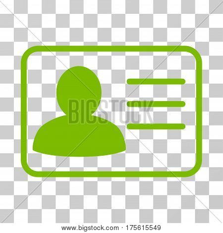 Account Card icon. Vector illustration style is flat iconic symbol eco green color transparent background. Designed for web and software interfaces.