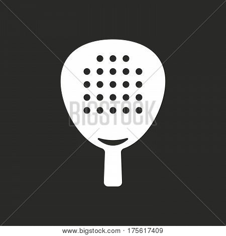 Isolated Vector Illustration Of  A Paddle Racket