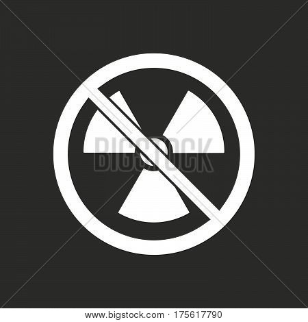 Isolated Vector Illustration Of  A Radioactivity Sign  In A Not Allowed Signal