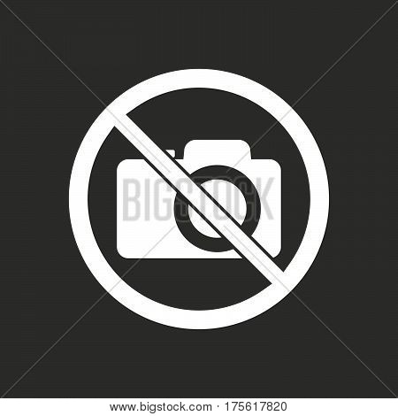 Isolated Vector Illustration Of  A Photo Camera  In A Not Allowed Signal
