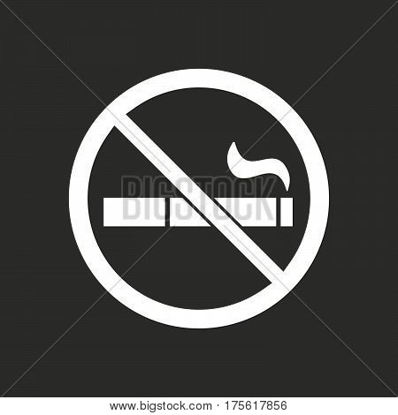 Isolated Vector Illustration Of  A Cigarette  In A Not Allowed Signal