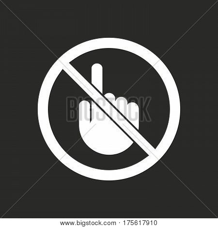 Isolated Vector Illustration Of Isolated Vector Illustration Of  A Touching Hand  In A Not Allowed S