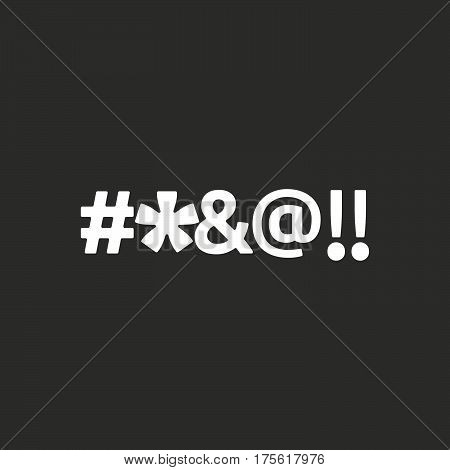 Isolated Vector Illustration Of  A Cursing Tex